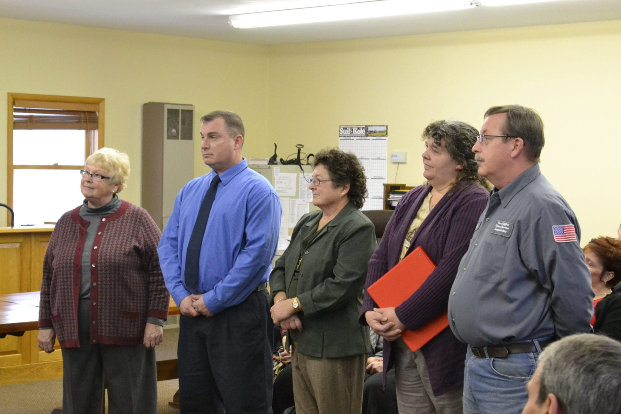 Spafford officials take oath, talk about goals for year