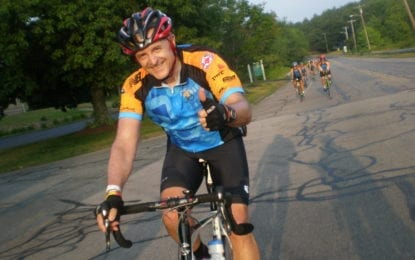 B'ville man bikes for cancer patients of today and tomorrow