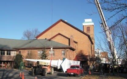 First United Methodist Church erects steeple