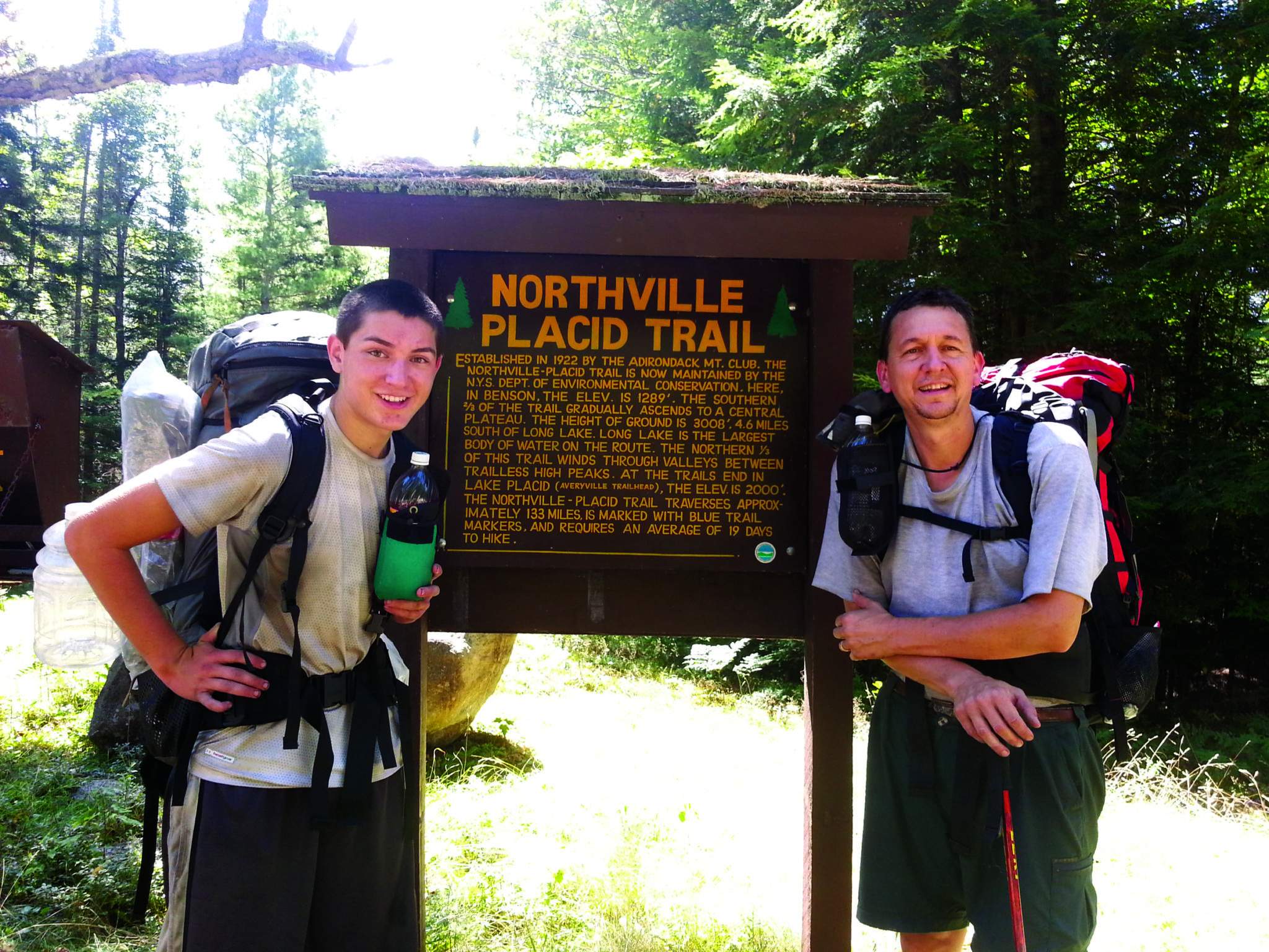 Baldwinsville father, son hike the NP Trail in record time