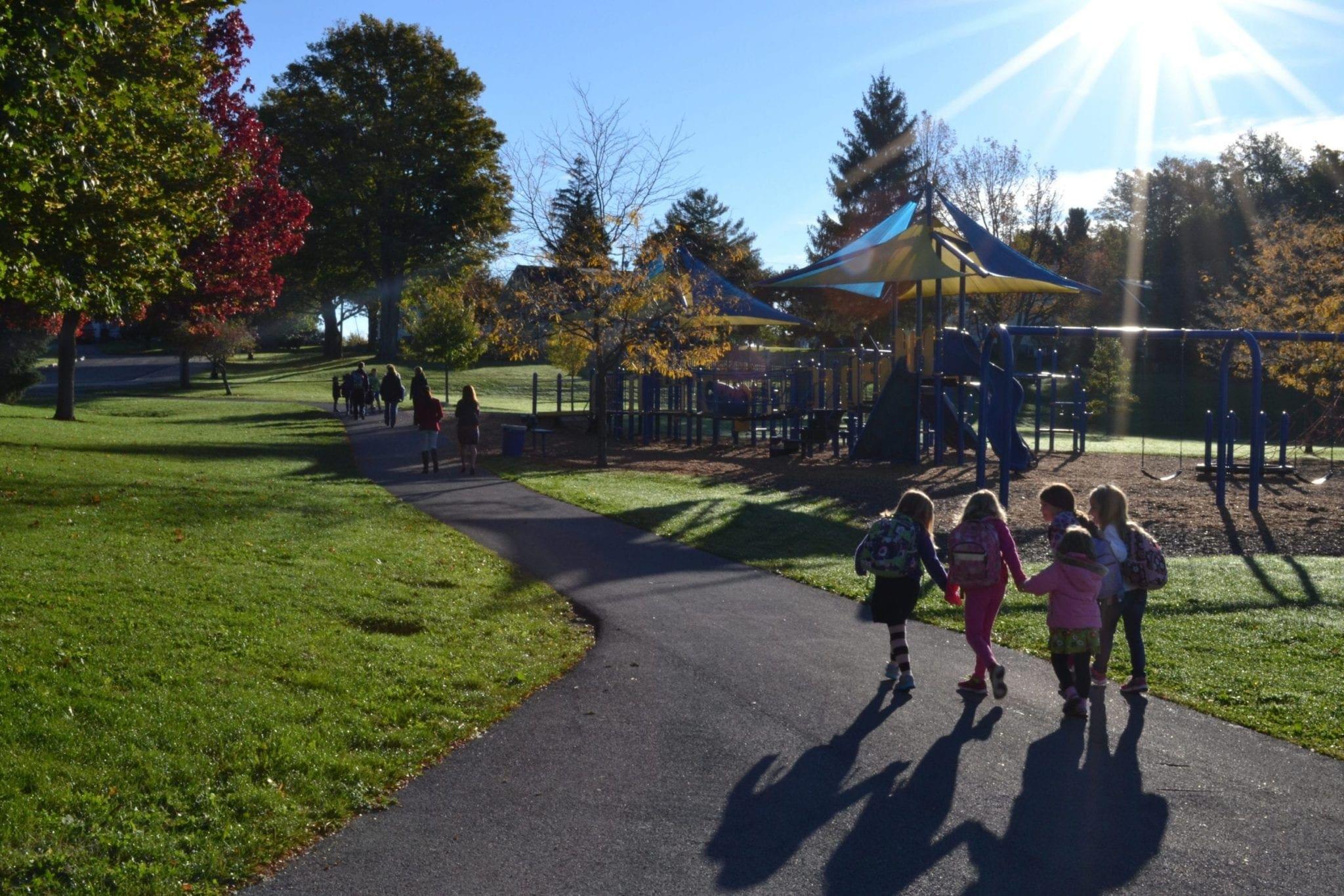 Skaneateles schools participate in walk to school day