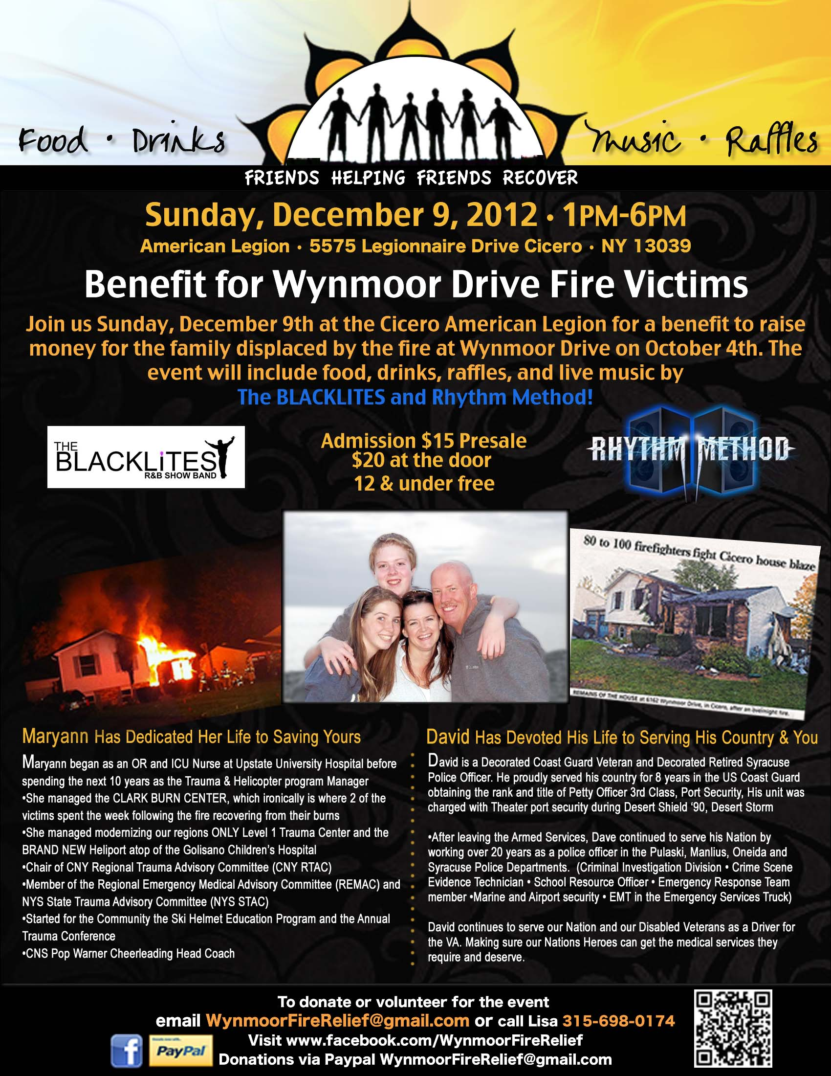 Benefit this weekend to help family whose home was destroyed by fire