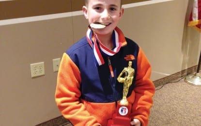 Clay boy places second in regional Elks Hoop Shoot