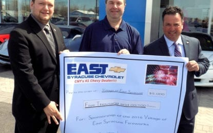 East Syracuse Chevy will sponsor 40th annual East Syracuse Fireworks