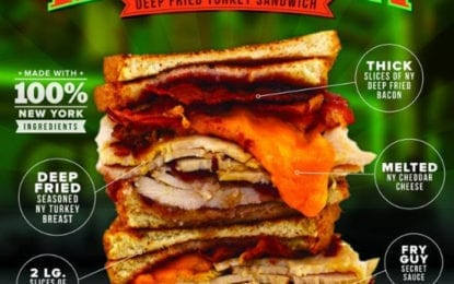 Latest NYS Fair sandwich: a deep-fried Thanksgiving between two slices of bread