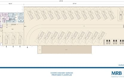 Cicero gets first look at new highway garage