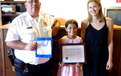 9 year-old honors Cazenovia police officers with gift bags