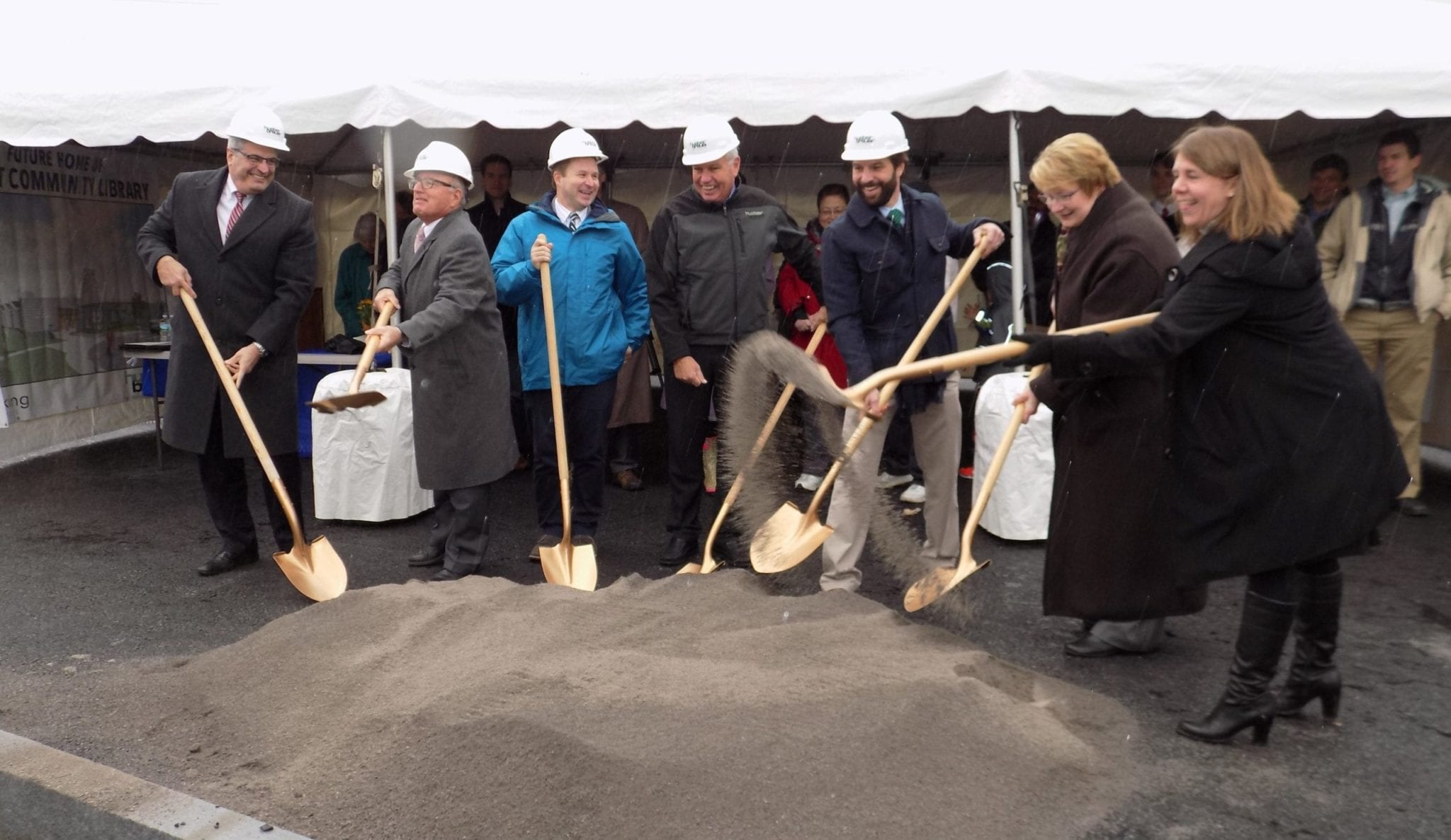 DeWitt Community Library holds groundbreaking for freestanding library construction
