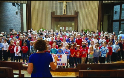 Immaculate Conception students thank veterans