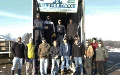 Local volunteers share holiday cheer with Trees for Troops