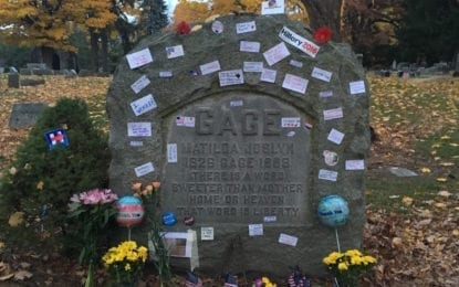 Voters leave 'Notes for Matilda' in Fayetteville Cemetery