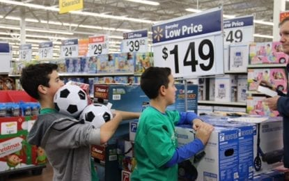 Students shop to make holidays brighter for others