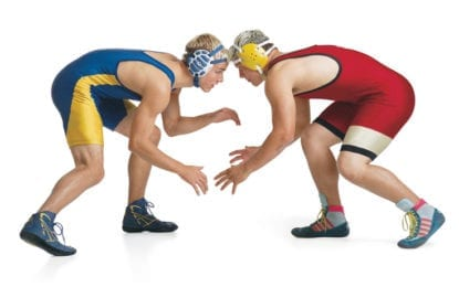 Griffin, Kellison finish third at state wrestling meet