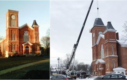 New roof for Old First steeple