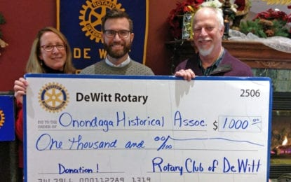 DeWitt Rotary gives to Onondaga Historical Association