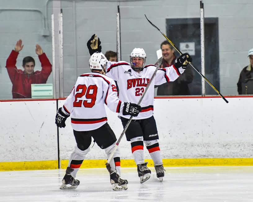 B'ville hockey wins twice, readies for sectionals