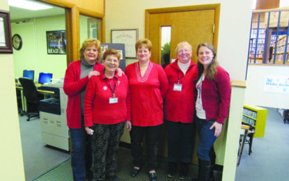 Fairmount library goes red