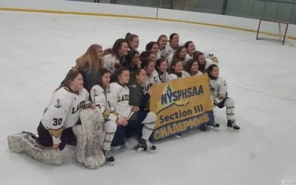 Girls hockey Lakers are  unbeaten sectional champs