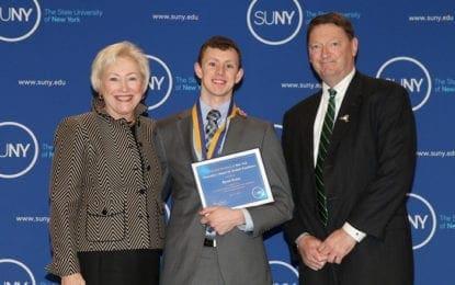 Evans receives SUNY Chancellor's Award