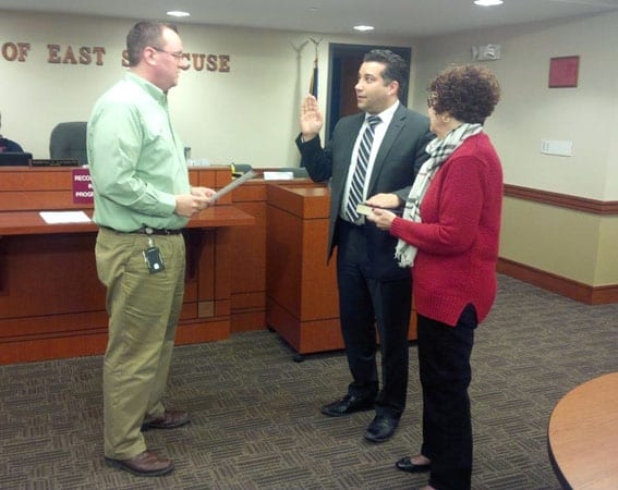 Two East Syracuse village justices sworn-in for abbreviated terms