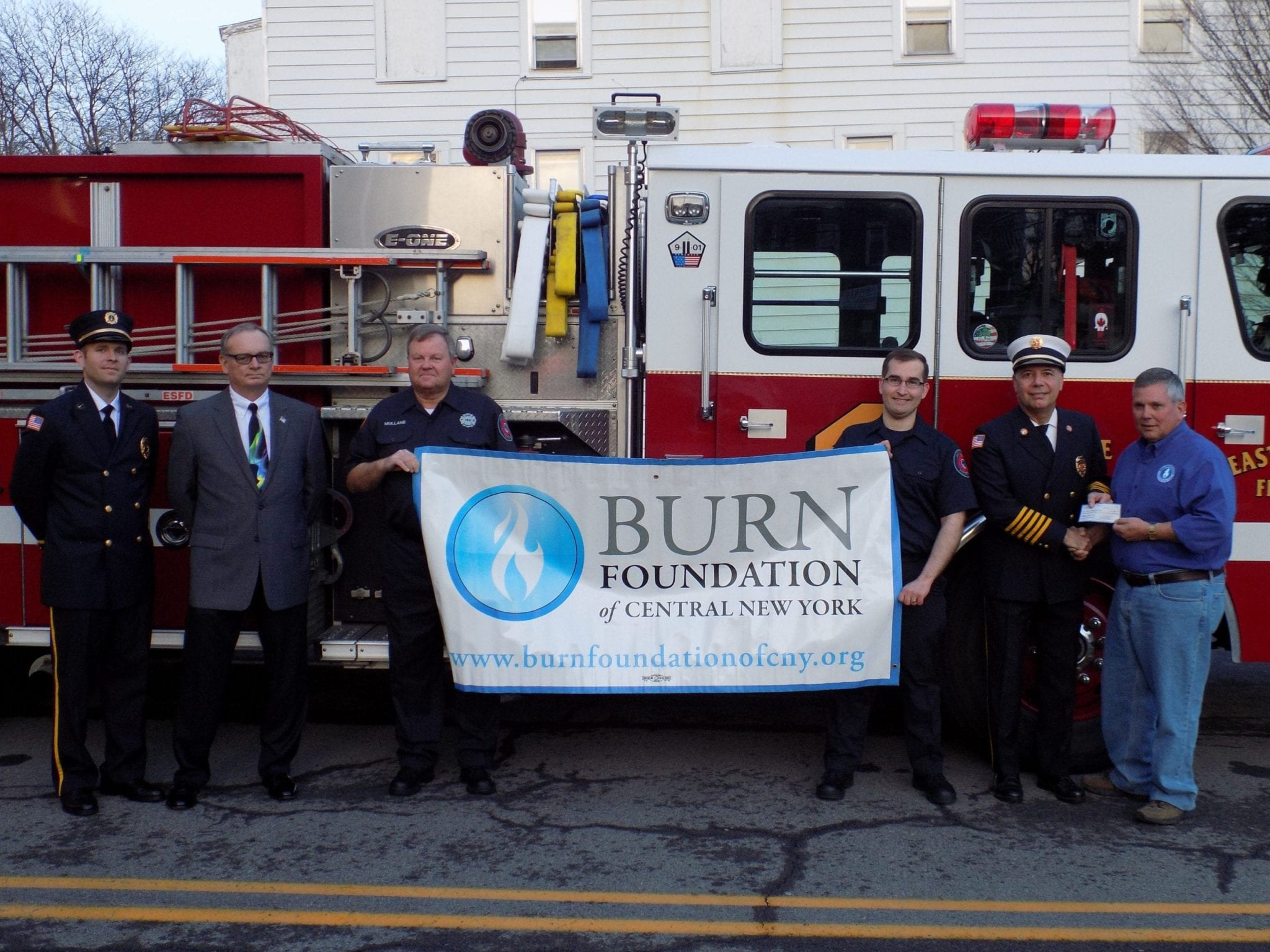 East Syracuse FD donates $10,000 to Burn Foundation of CNY
