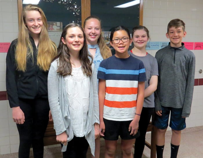 Third quarter middle school student leaders named