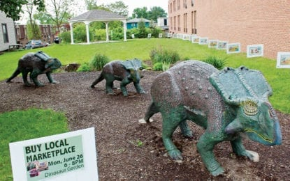 From the Liverpool Public Library: Concert to celebrate new instruments on Dinosaur Garden Lawn