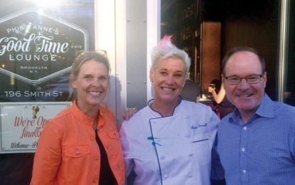 LETTER: The view from the chef's table at Anne Burrell's new restaurant was fantastic