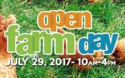 Start planning for Open Farm Day 2017