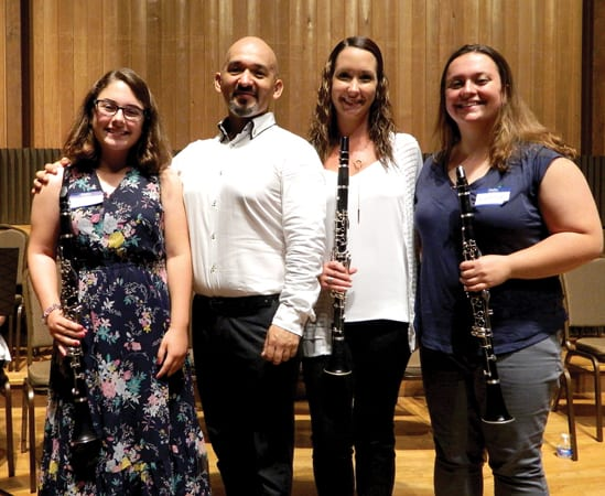 Caz musicians learn from world renowned clarinetist