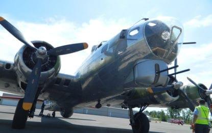 World War II B-17 bomber in Syracuse, offering flights