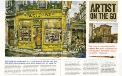 De Muth featured in national art magazine