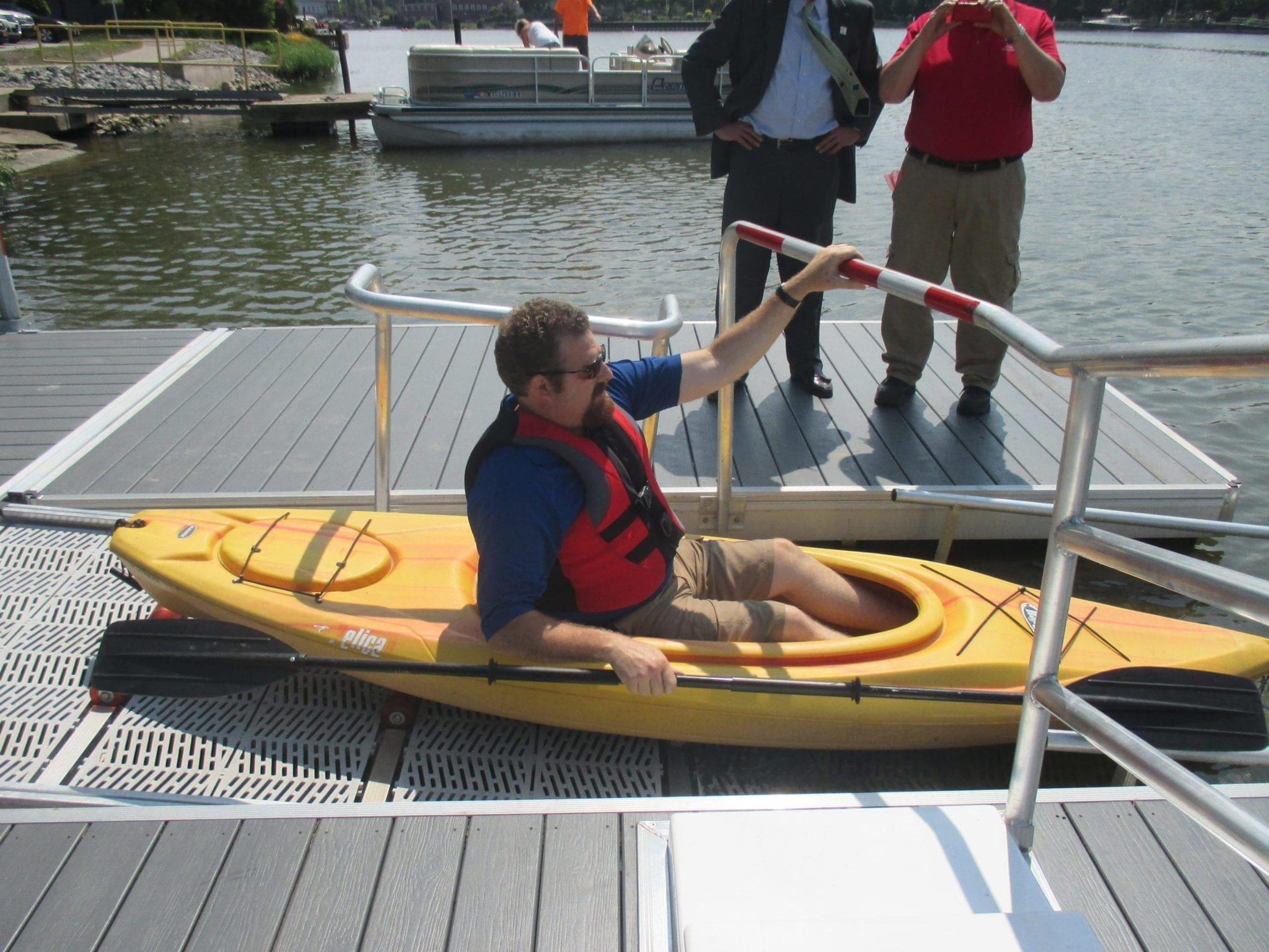 Paddle away: B'ville officially opens Mercer Park kayak launch