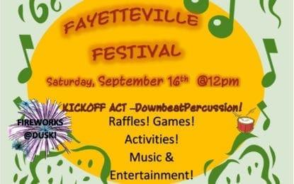 Fayetteville Festival coming Sept. 16