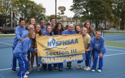 Girls tennis Lakers have sectional three-peat