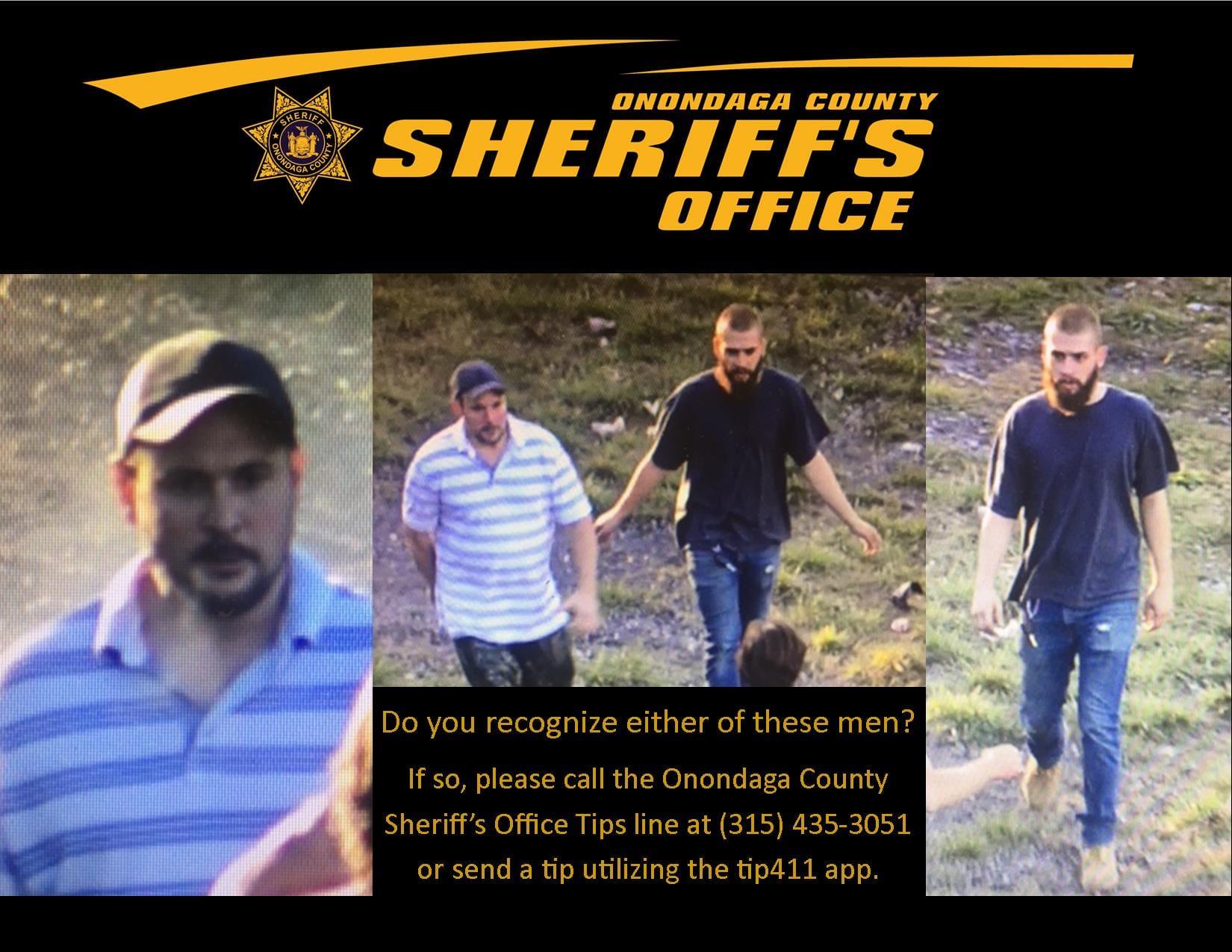 Sheriff's office seeks assistance identifying two men