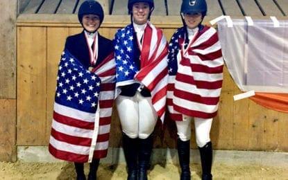 Cazenovia College equestrian trio earns silver medal for Team USA