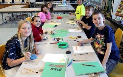 Burton Street students create Kindness Rock path