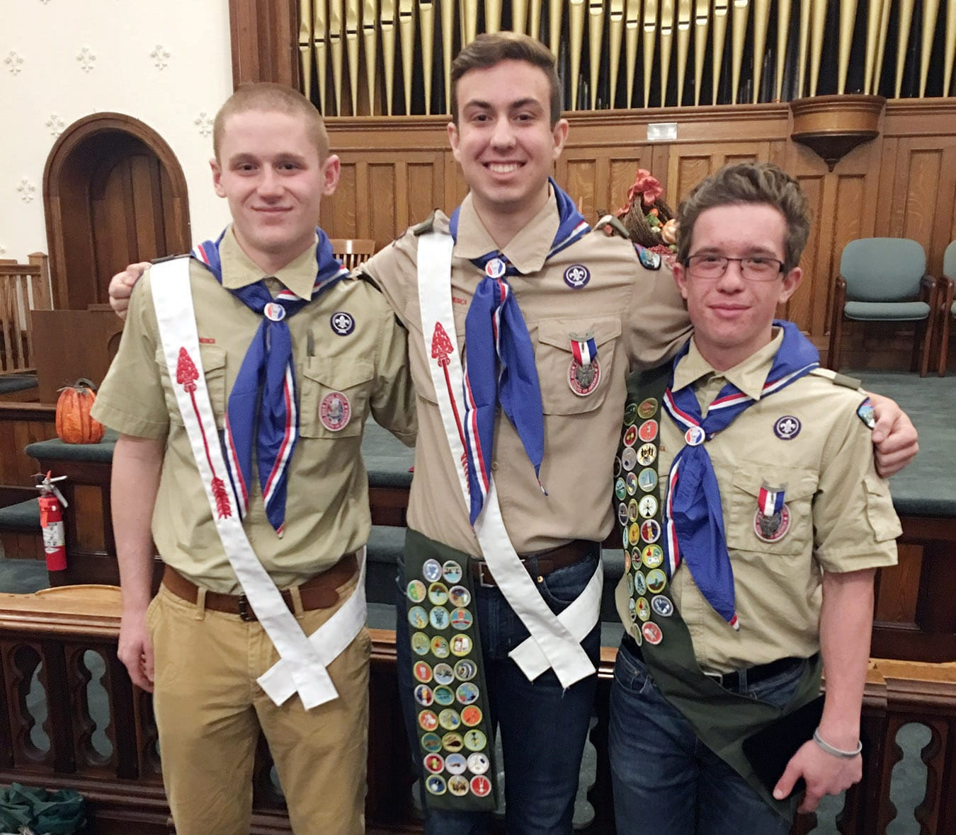 Troop 71 Boy Scouts receive Eagle Scout Award