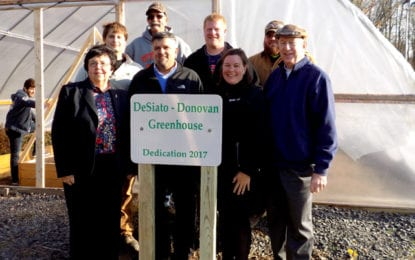Educational greenhouse dedicated to former mayor and ESM Superintendent