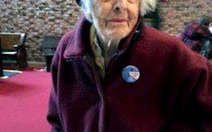 Centenarian voter proud to cast ballot
