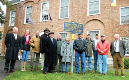 Historic marker, once lost for years, reinstalled at Cazenovia College
