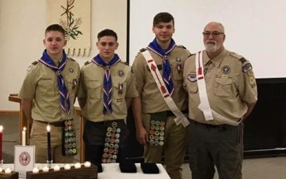 All for one, three for all: Troop 114 celebrates three Eagle Scouts