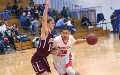 J-D boys basketball beats Auburn, Newark