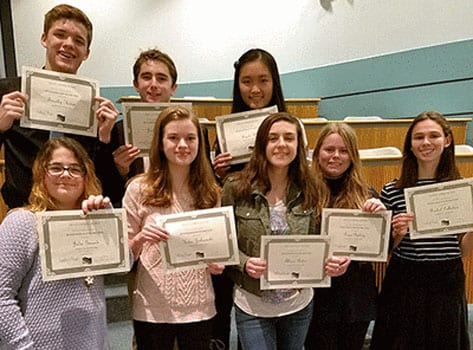 Fayetteville-Manlius German National Honor Society inducts new members
