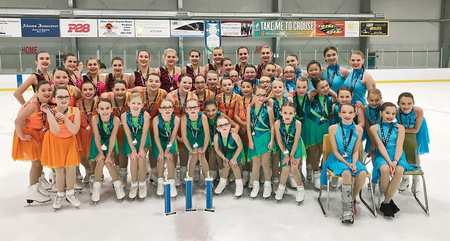 Local synchronized skating teams win first competition