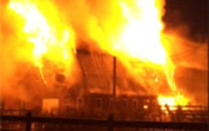 Seven departments battle Nelson blaze, home a total loss