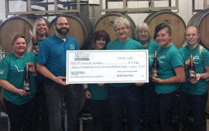 Winery raises over $7K for Hope for Heather