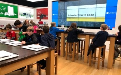 Students learn about computer coding