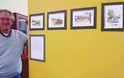 Marcellus library features art work by Bill Elkins this month